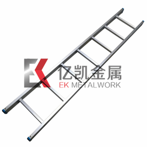 Rectangle Straight Pole 6063-T5 Aluminium Alloy Ladder 1m To 6m With Plastic Footpad