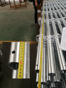 Hot Dip Galvanized HDG 3M Ringlock Scaffolding Vertical Standard