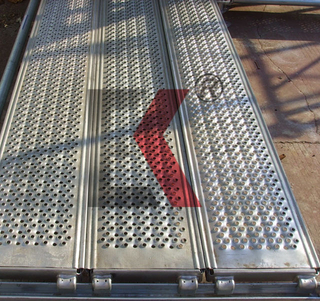 Steel Scaffold Plank Galvanized Scaffolding Catwalk Hook Walk Board for Construction