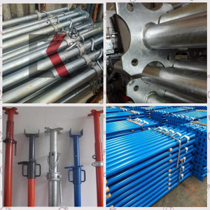 Galvanized or Painted Adjustable Scaffolding Telescopic Props Steel Support Shoring Props